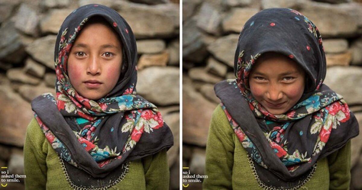 Pessoas antes e depois de um sorriso 3