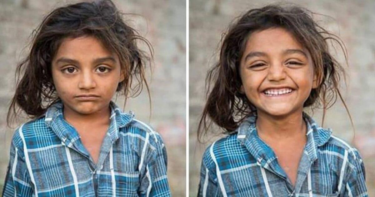 Pessoas antes e depois de um sorriso 4