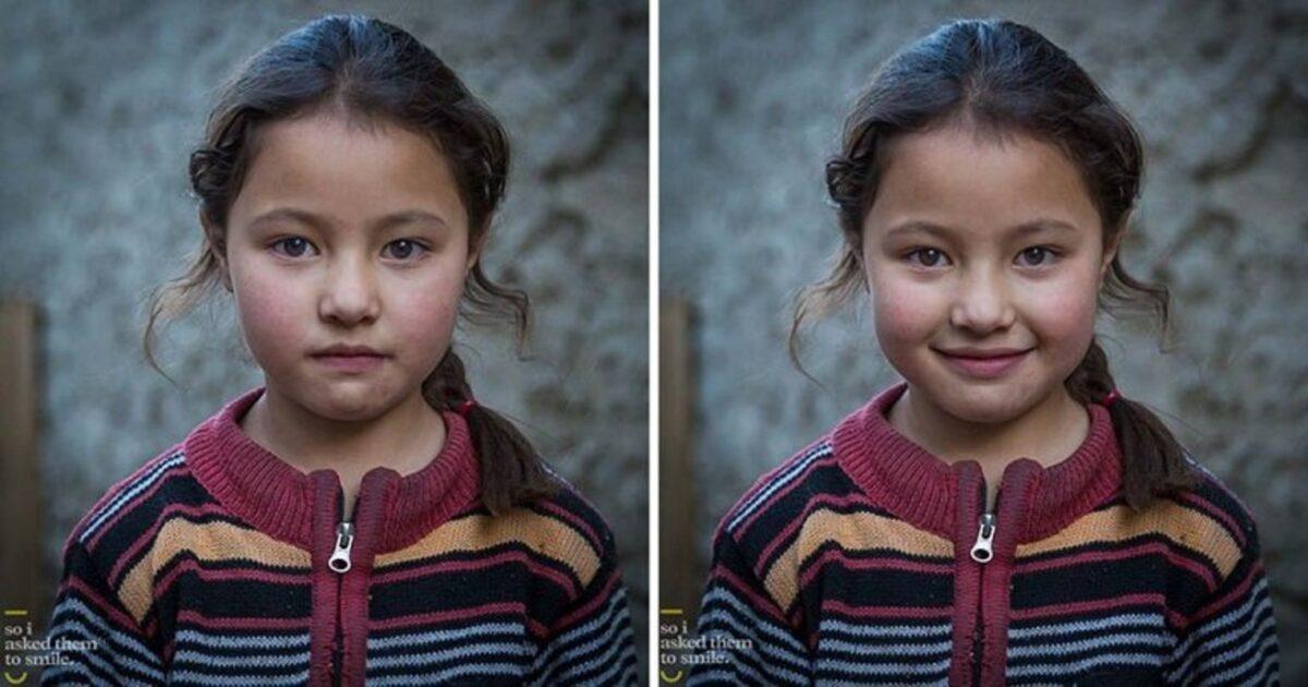 Pessoas antes e depois de um sorriso 6