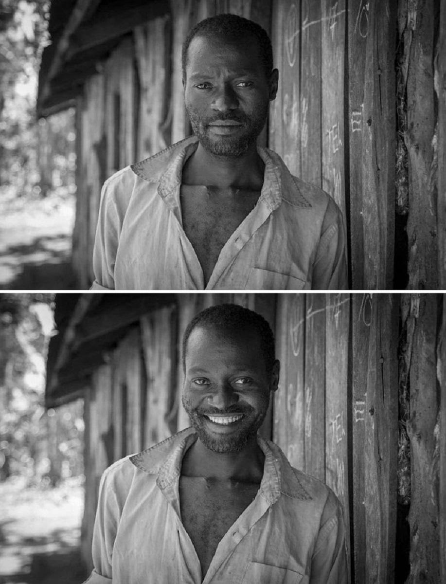 Pessoas antes e depois de um sorriso 7