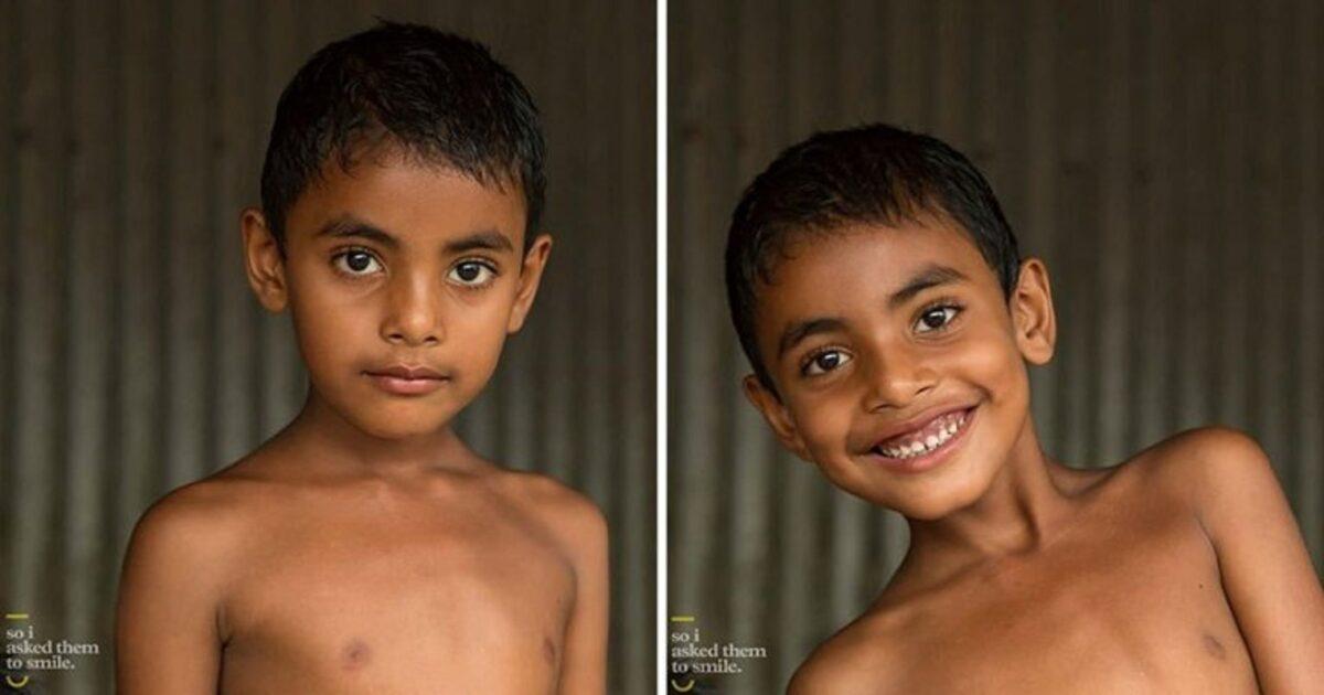 Pessoas antes e depois de um sorriso 8