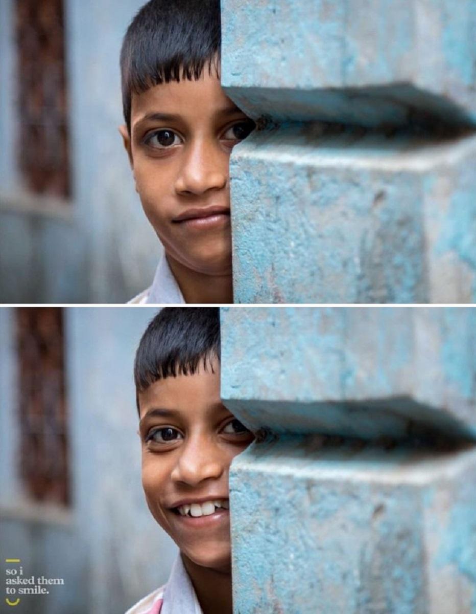 Pessoas antes e depois de um sorriso 9