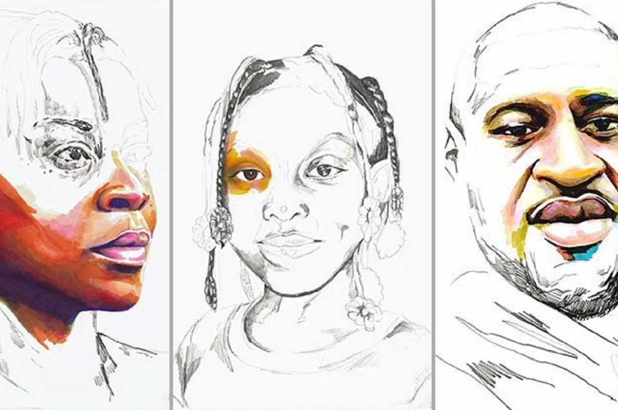 """""""Stolen"""": artista Adrian Brandon cria obra dedicada a negros mortos por policiais"""