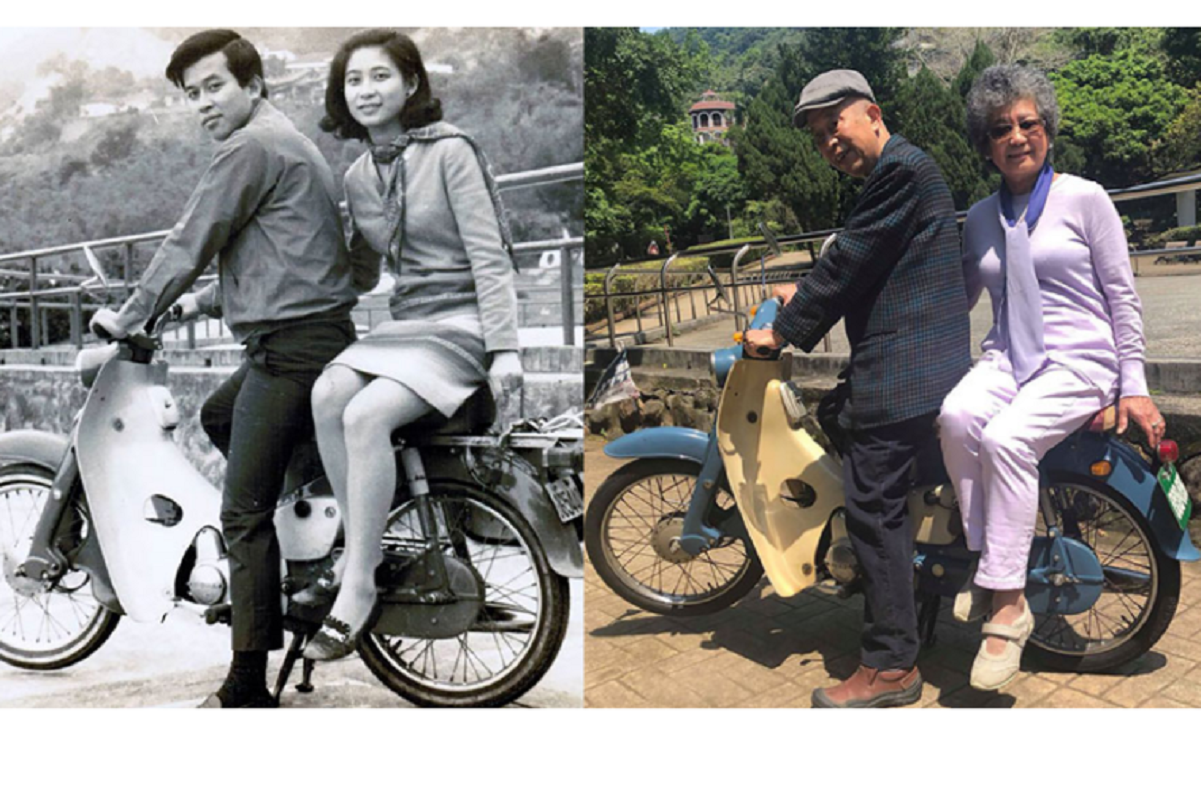 Fotos de família recriadas de forma idêntica