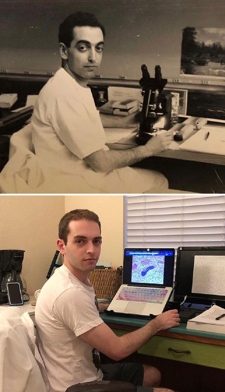 Fotos de familia recriadas de forma identica 16