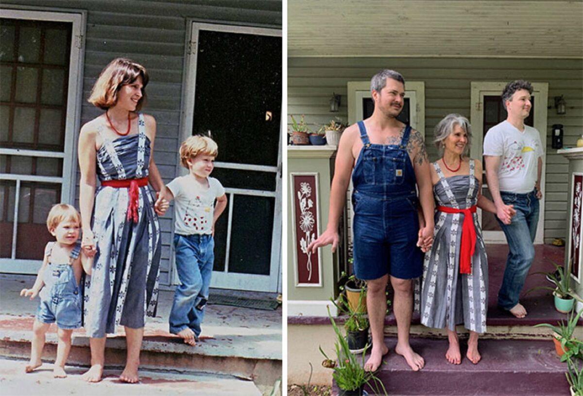 Fotos de familia recriadas de forma identica 5