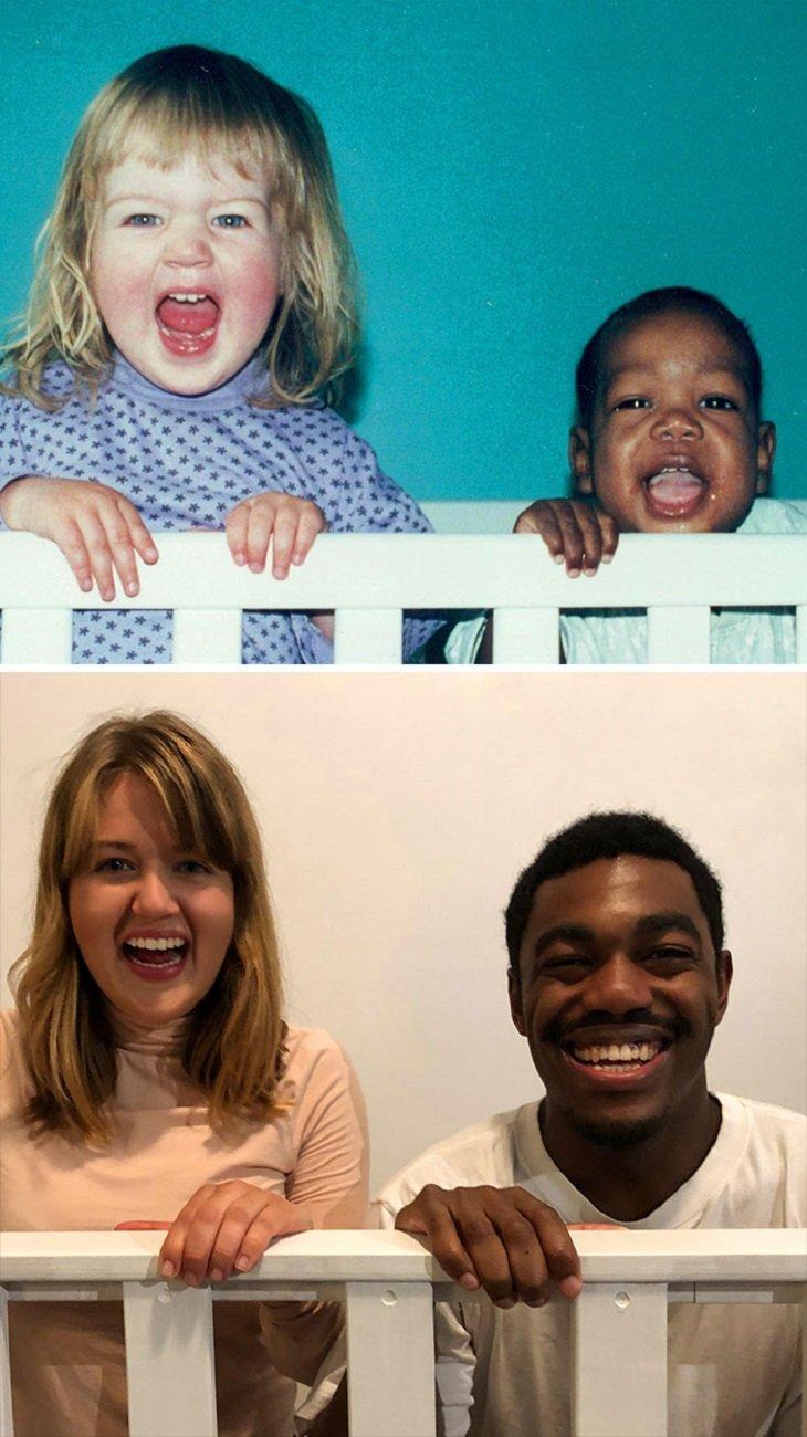 Fotos de familia recriadas de forma identica 8