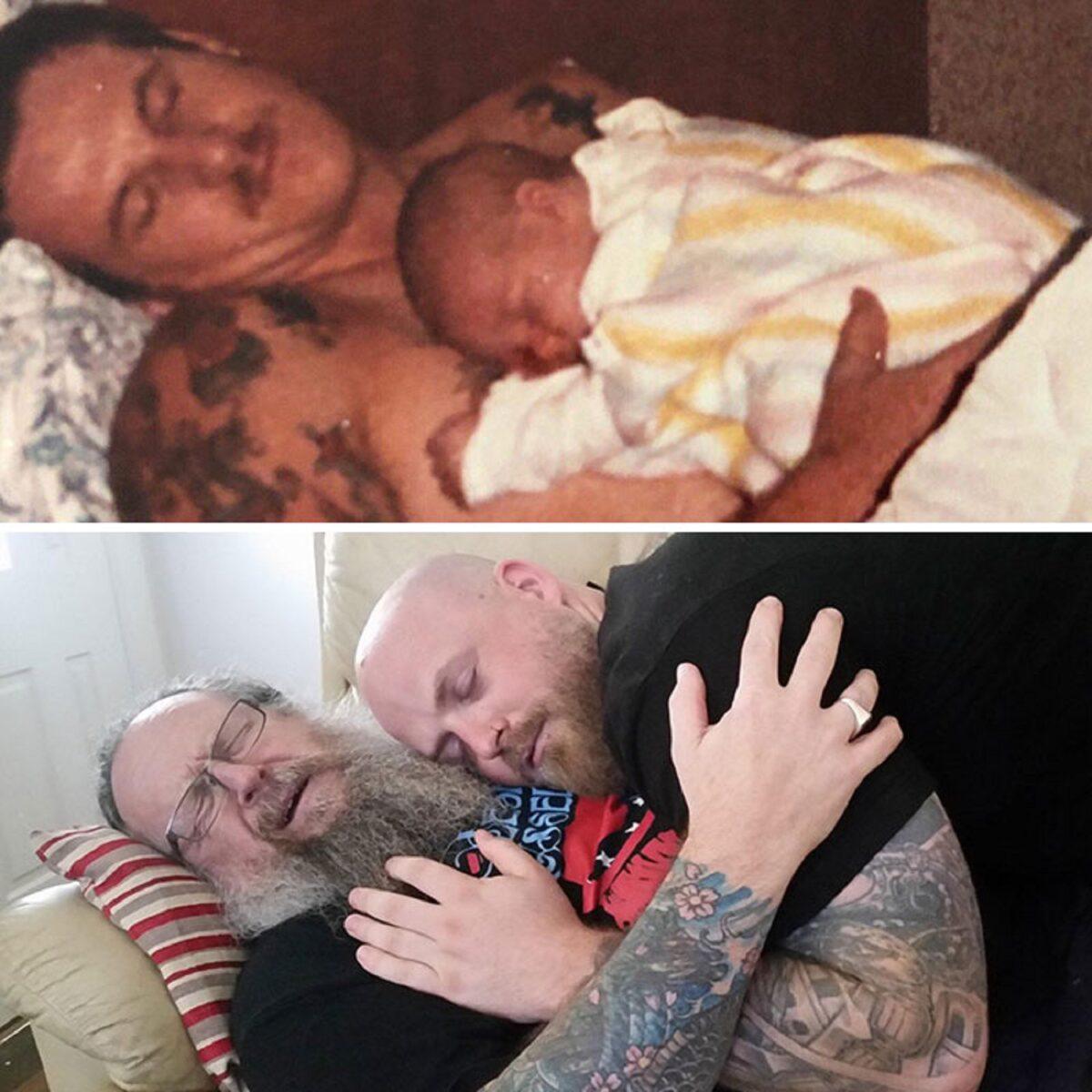 Fotos de familia recriadas de forma identica 9
