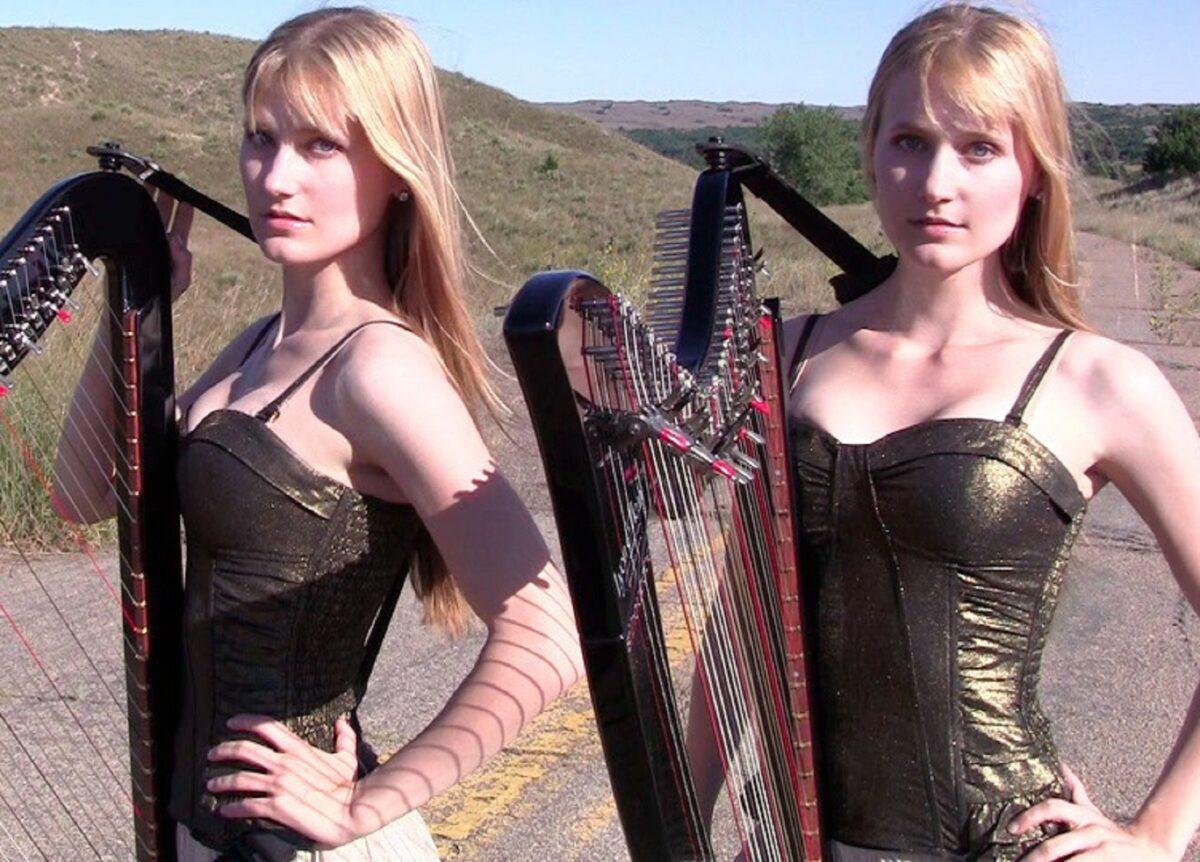 Harp Twins as irmas gemeas e suas versoes de classicos do rock na harpa PARTE II 1