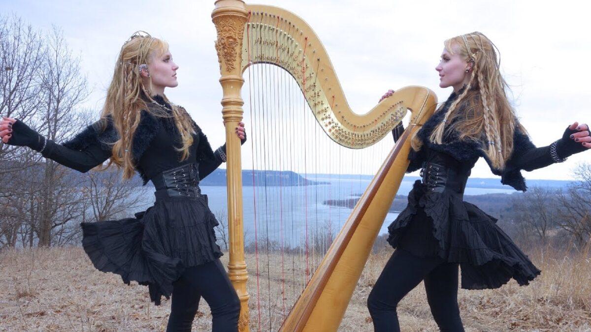 Harp Twins as irmas gemeas e suas versoes de classicos do rock na harpa PARTE II 10