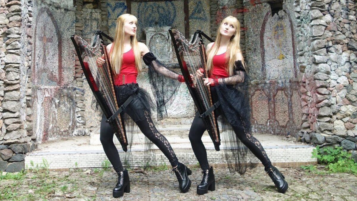 Harp Twins as irmas gemeas e suas versoes de classicos do rock na harpa PARTE II 2
