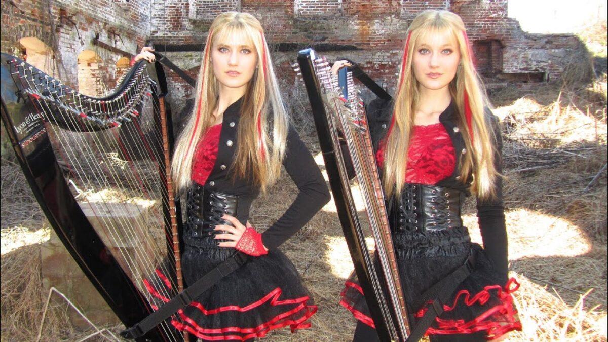 Harp Twins as irmas gemeas e suas versoes de classicos do rock na harpa PARTE II 3