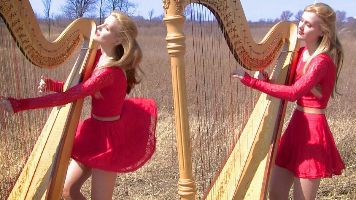 Harp Twins as irmas gemeas e suas versoes de classicos do rock na harpa PARTE II 4