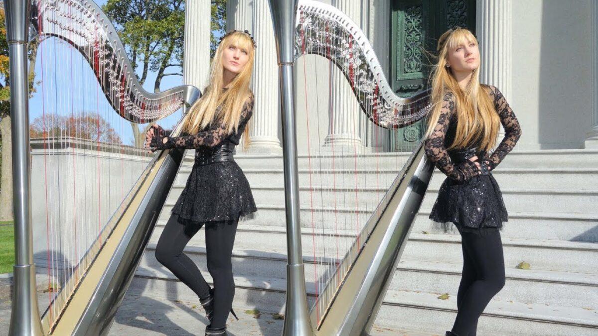 Harp Twins as irmas gemeas e suas versoes de classicos do rock na harpa PARTE II 6