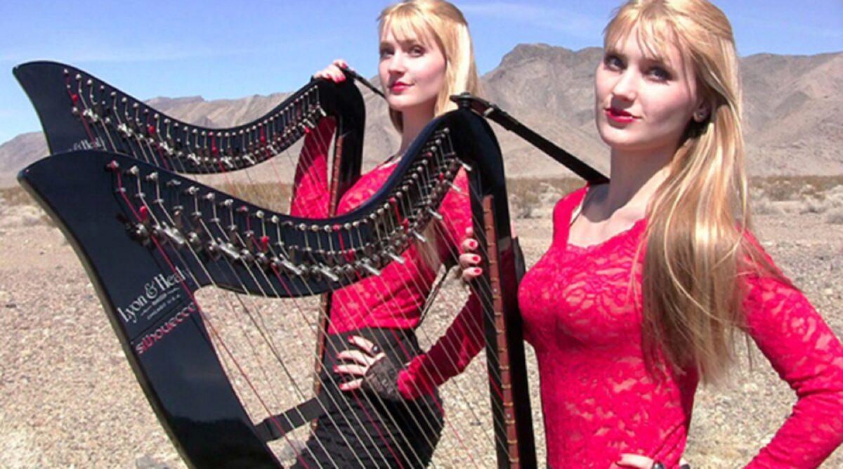 Harp Twins as irmas gemeas e suas versoes de classicos do rock na harpa PARTE II 7