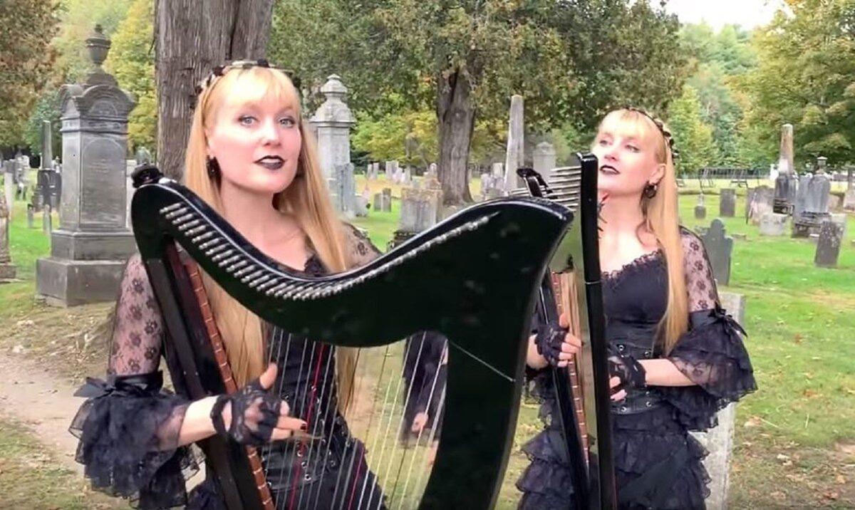 Harp Twins as irmas gemeas e suas versoes de classicos do rock na harpa PARTE II 9