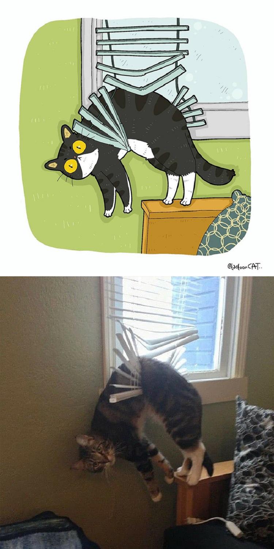 Tactoonca artista indonesio redesenha memes de gatinhos 12