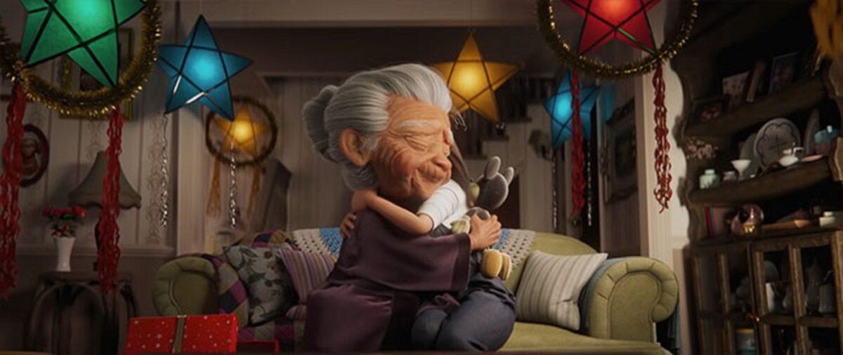 Anuncio de Natal da Disney mostra vinculo entre avo e neta 1