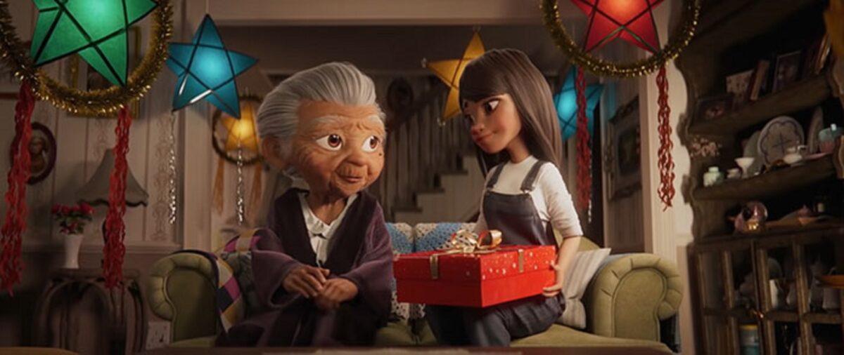 Anuncio de Natal da Disney mostra vinculo entre avo e neta 14
