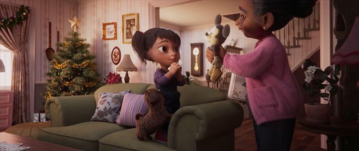 Anuncio de Natal da Disney mostra vinculo entre avo e neta 3