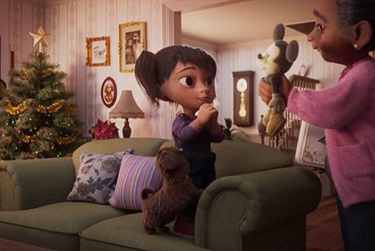 Anuncio de Natal da Disney mostra vinculo entre avo e neta 50