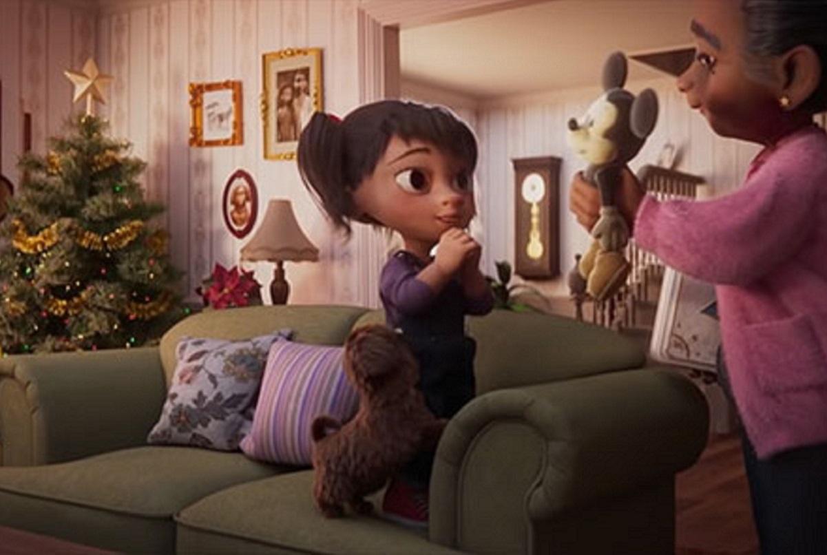 Anúncio de Natal da Disney mostra vínculo entre avó e neta