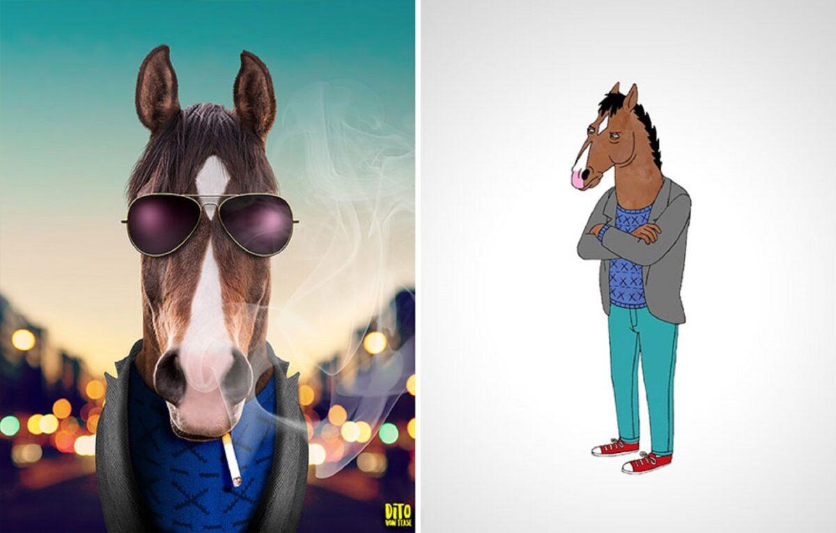 Artista faz releitura e mostra como seriam personagens de desenhos animados na vida real 25