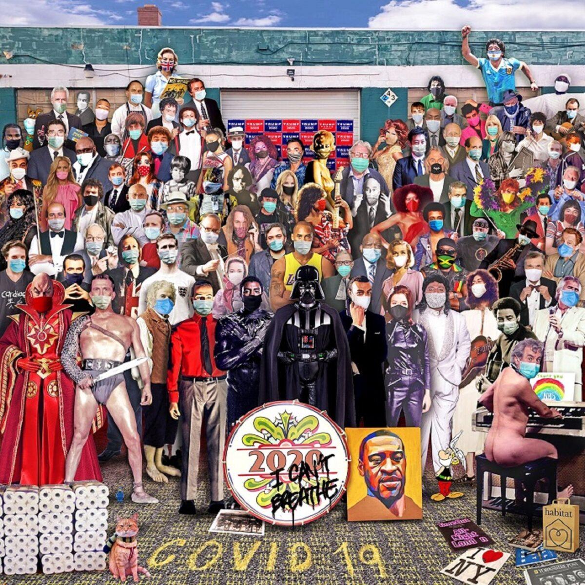 Chris Barker artista recria capa de Sgt Peppers e destaca personalidades que nos deixaram em 2020 1