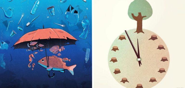 Ilustrações honestas que mostram os problemas da sociedade