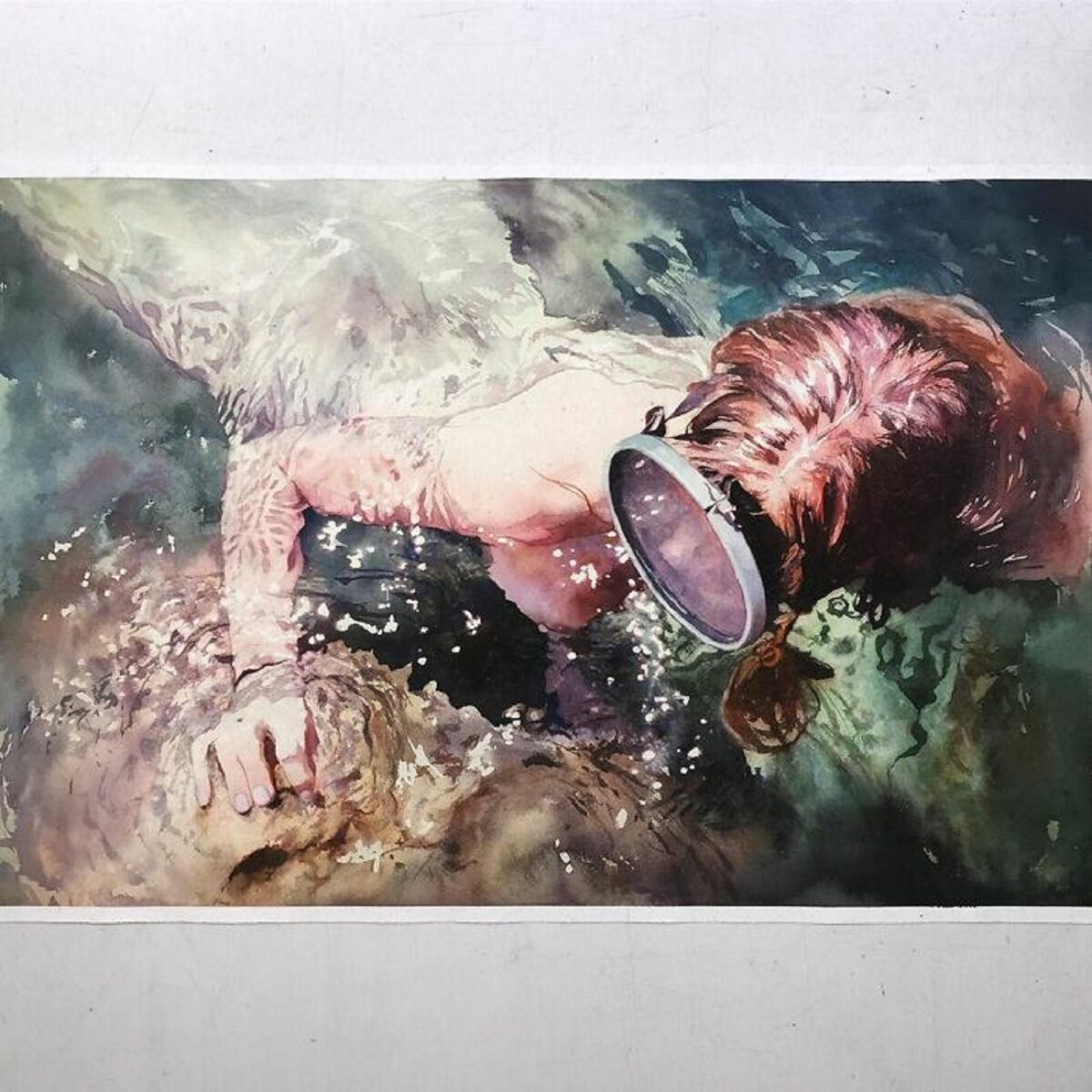 Marcos Beccari artista brasileiro retrata pessoas dentro dagua em incriveis pinturas aquarelas 14