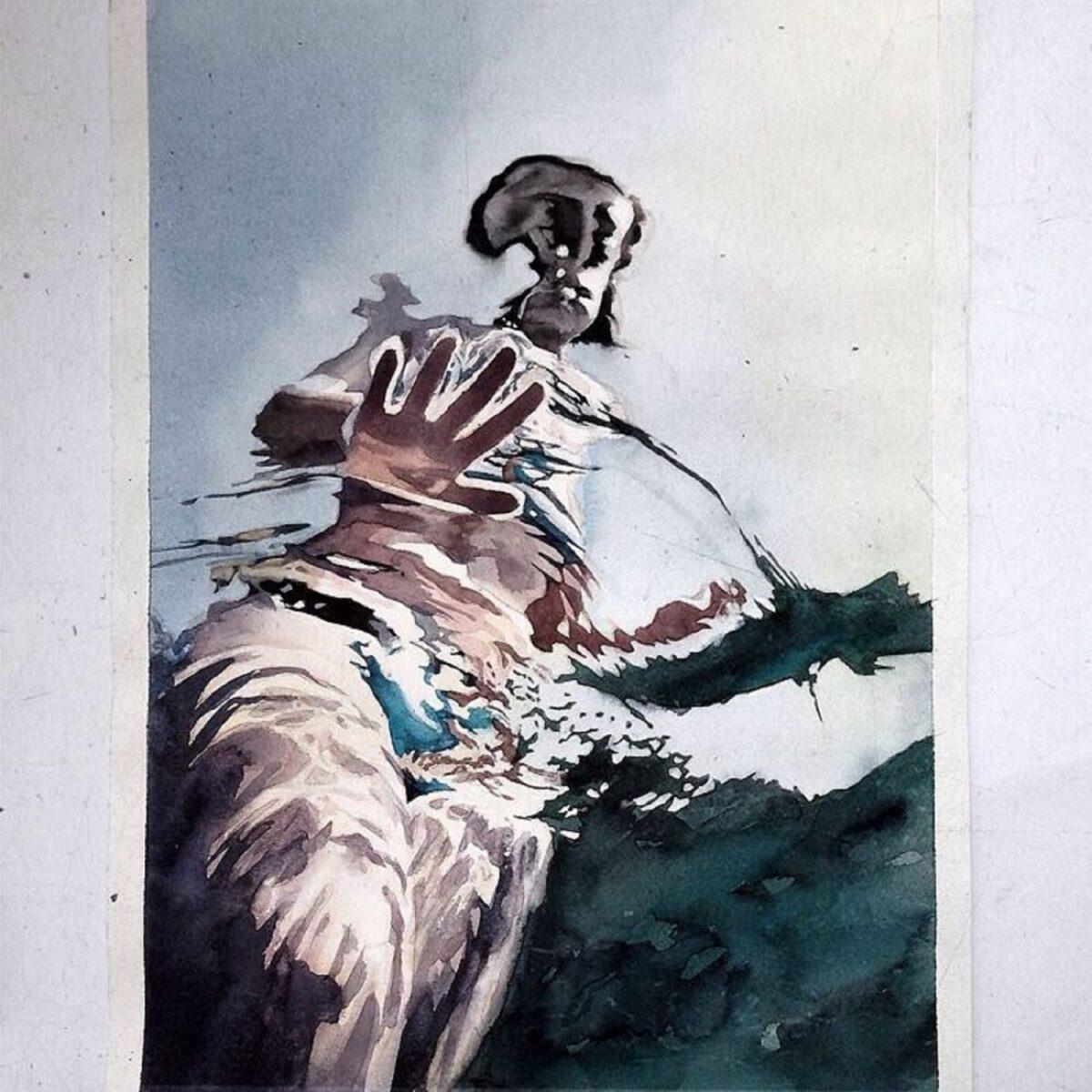 Marcos Beccari artista brasileiro retrata pessoas dentro dagua em incriveis pinturas aquarelas 17