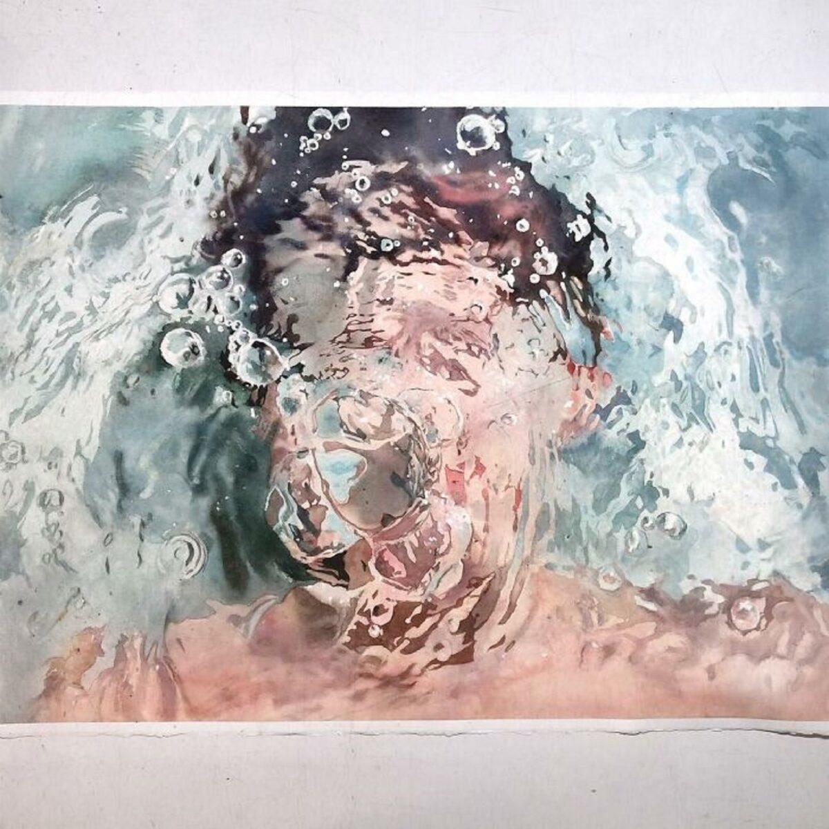 Marcos Beccari artista brasileiro retrata pessoas dentro dagua em incriveis pinturas aquarelas 3