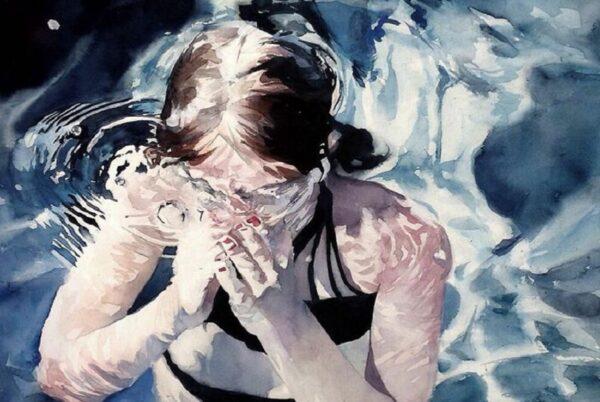 Marcos Beccari artista brasileiro retrata pessoas dentro dagua em incriveis pinturas aquarelas 50