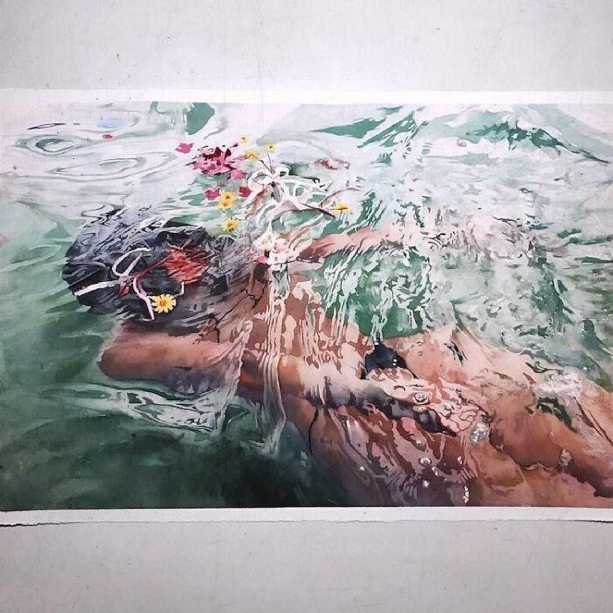 Marcos Beccari artista brasileiro retrata pessoas dentro dagua em incriveis pinturas aquarelas 6