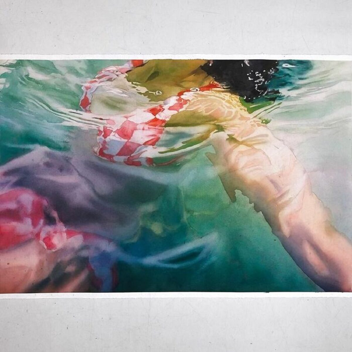 Marcos Beccari artista brasileiro retrata pessoas dentro dagua em incriveis pinturas aquarelas 7