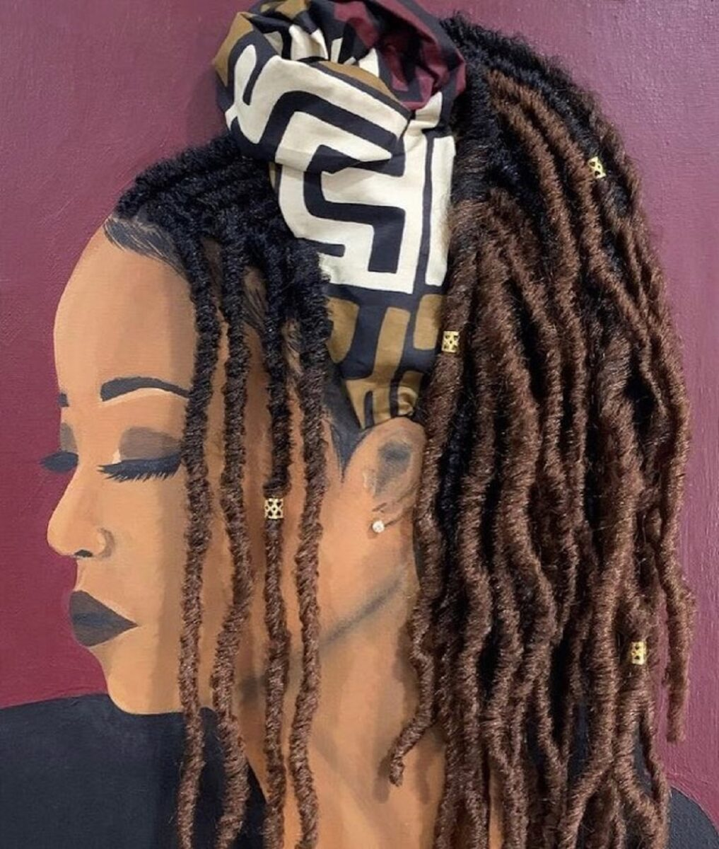 Tyler Clark pinta quadros de mulheres negras com cabelo de verdade e chama a atencao com seu trabalho 2