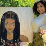 Tyler Clark pinta quadros de mulheres negras com cabelo de verdade e chama a atencao com seu trabalho 50