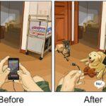 artista cria serie de ilustracoes mostra o antes e depois da vida com um pet 50