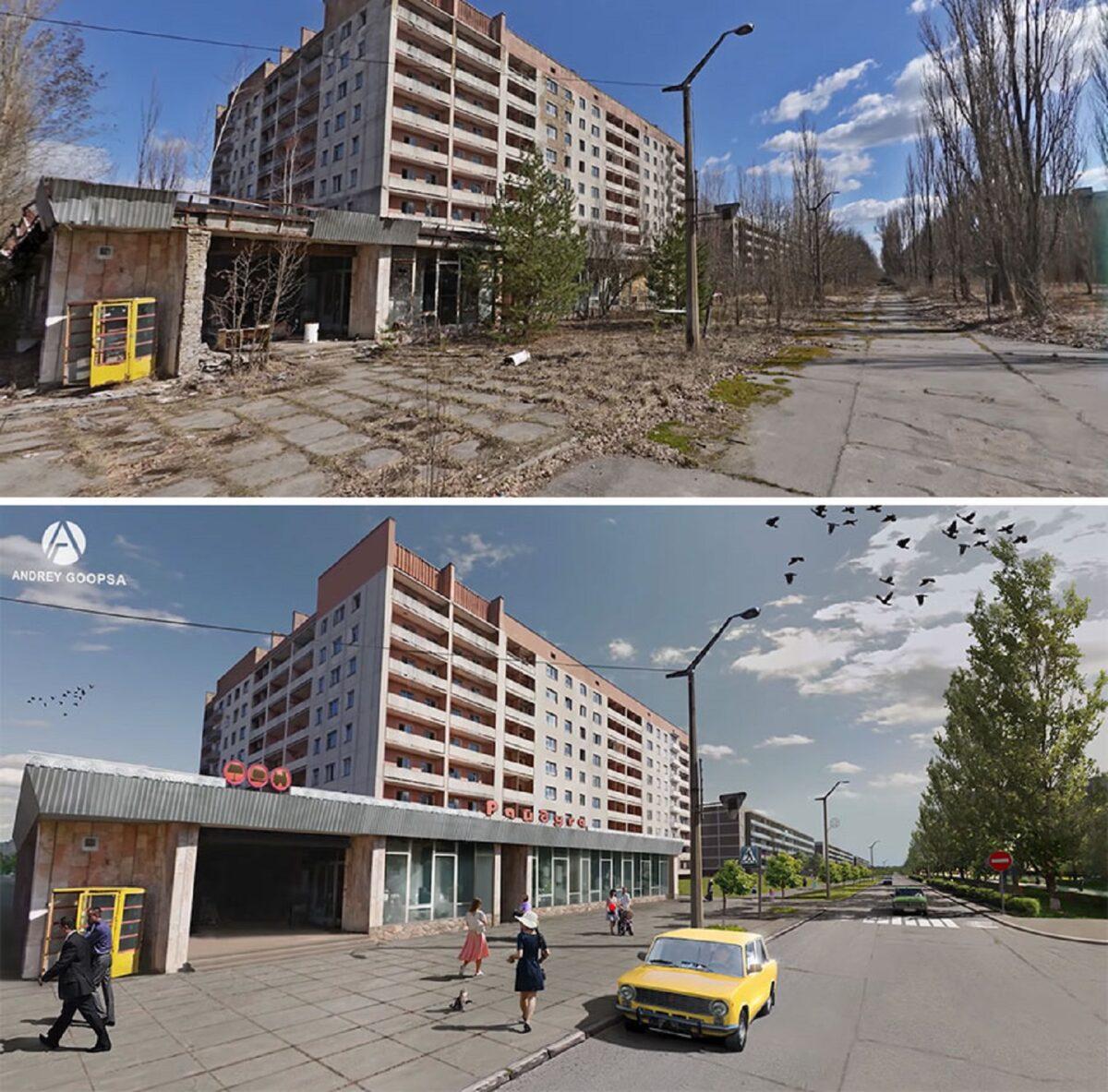 Andrey Goopsa artista mostra com antes e depois como paises pos sovieticos deveriam ser hoje 10
