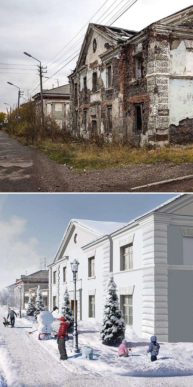 Andrey Goopsa artista mostra com antes e depois como paises pos sovieticos deveriam ser hoje 4