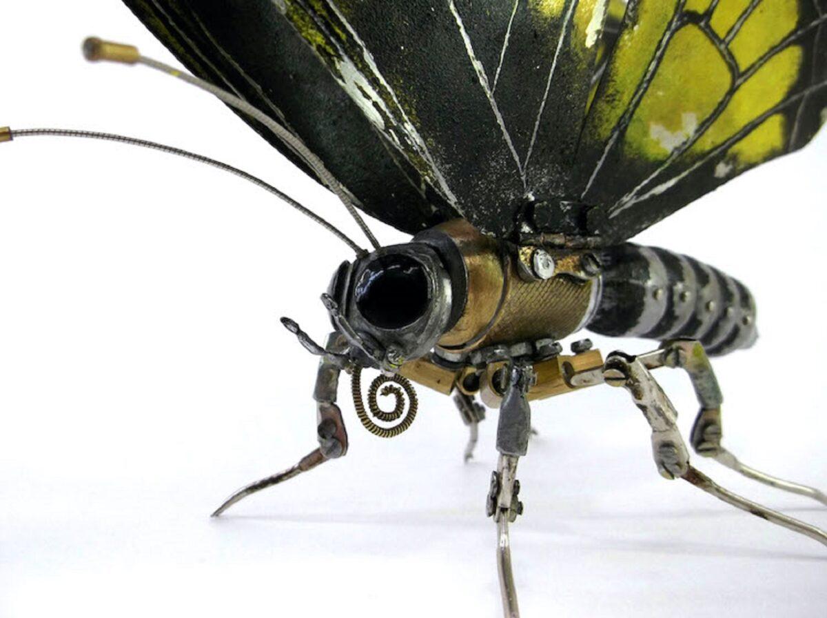 Artista cria esculturas de animais com pecas mecanicas descartadas em estilo Steampunk 7
