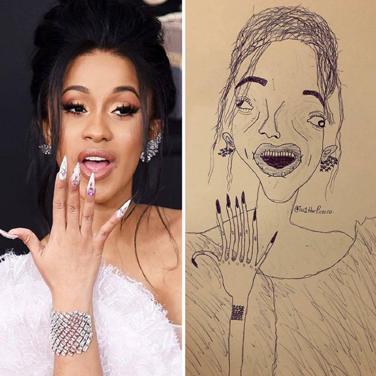 As piores fan art de pessoas famosas 4