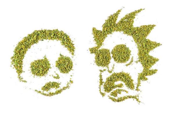 Cannabiscapes artistas fazem retratos com maconha 5