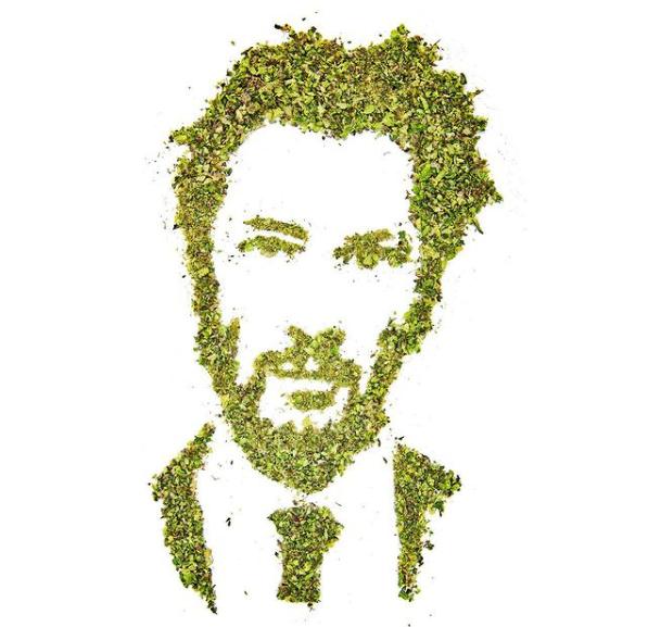Cannabiscapes artistas fazem retratos com maconha 7