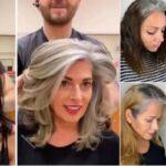 Jack Martin cabeleireiro convence clientes a assumirem a beleza dos cabelos brancos 50