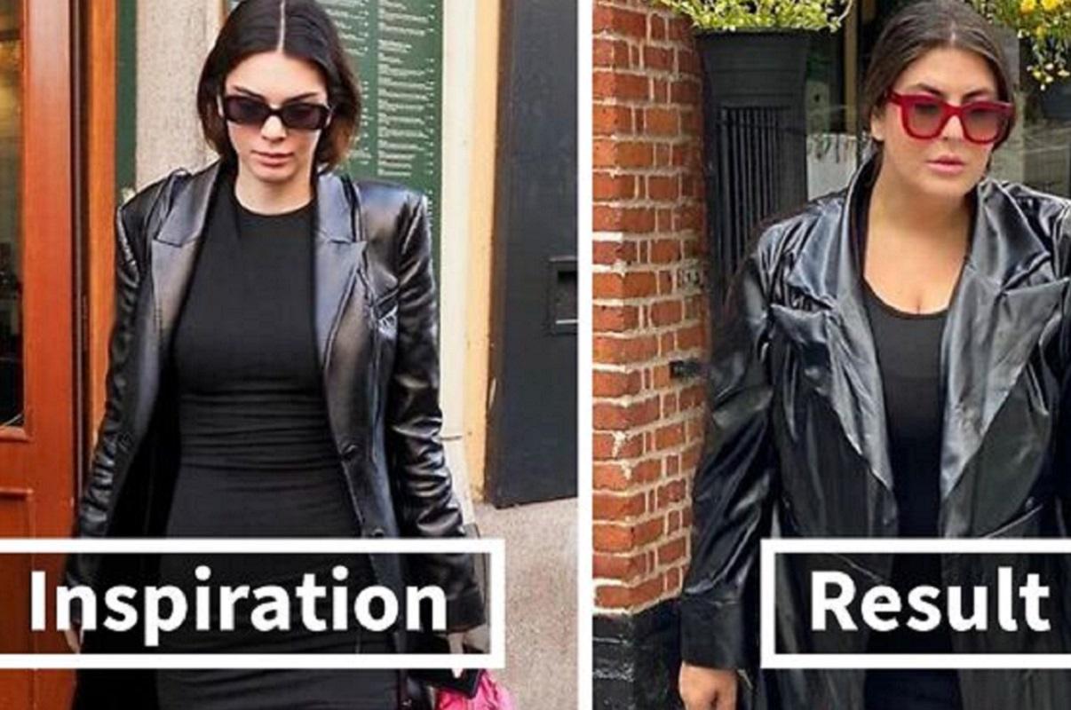 Katie Sturino reproduz fotos de celebridades e mostra a importância da auto aceitação
