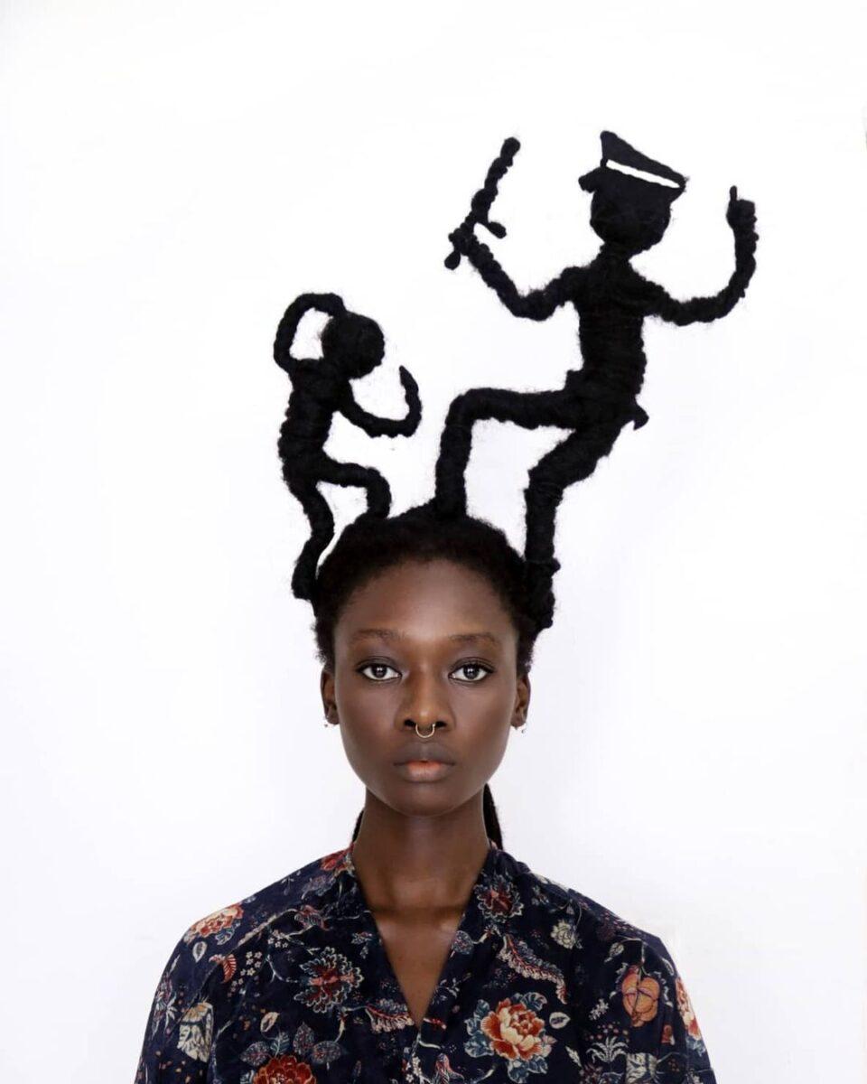Laetitia Ky artista cria esculturas com o proprio cabelo e exalta beleza crespa 16