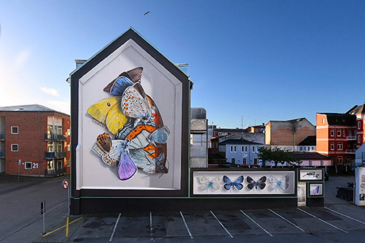 Mantra artista desenha borboletas em paredes de diversas cidades pelo mundo 2