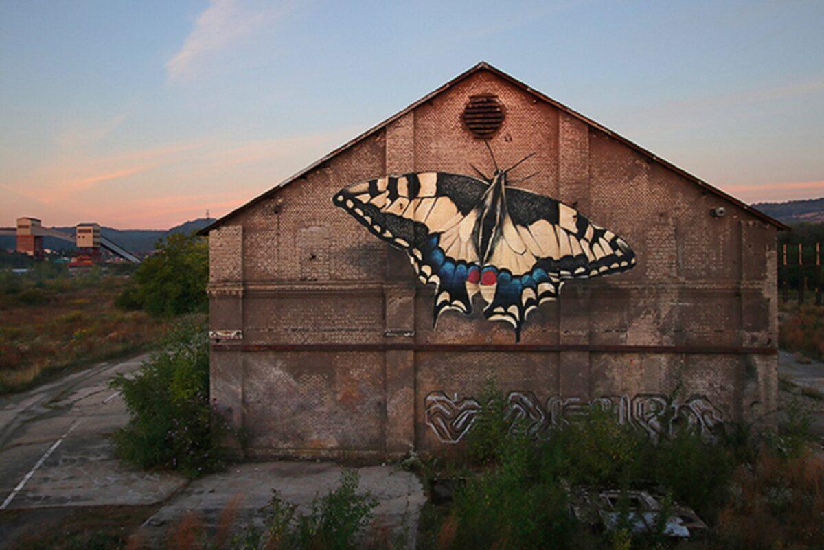Mantra artista desenha borboletas em paredes de diversas cidades pelo mundo 3