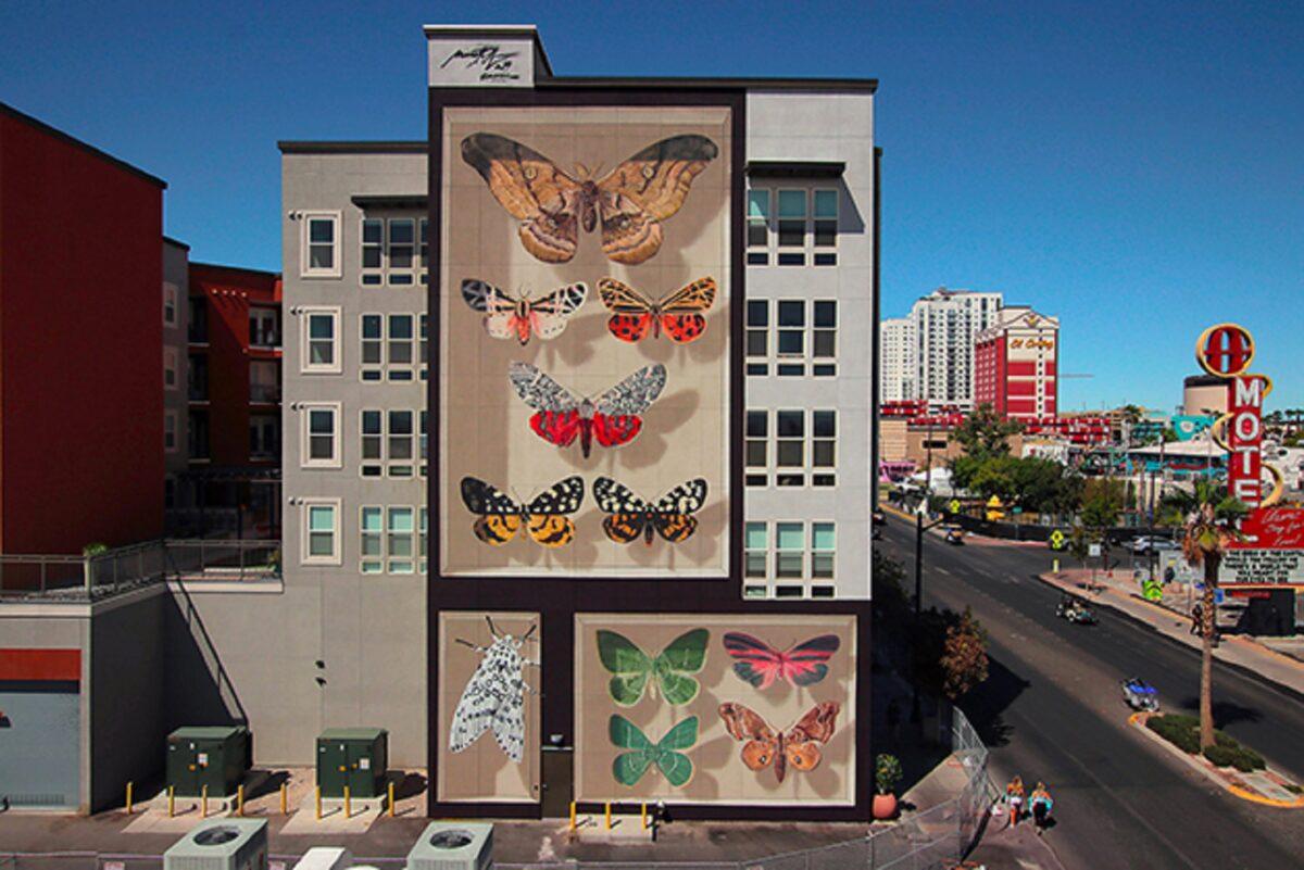 Mantra artista desenha borboletas em paredes de diversas cidades pelo mundo 5
